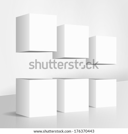 cubes - stock vector