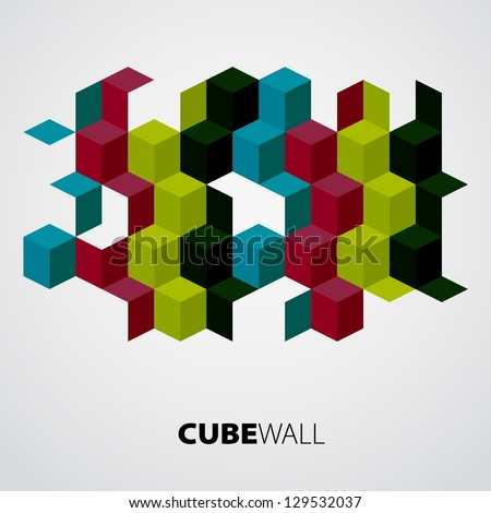 Cubes background - vector illustration - stock vector