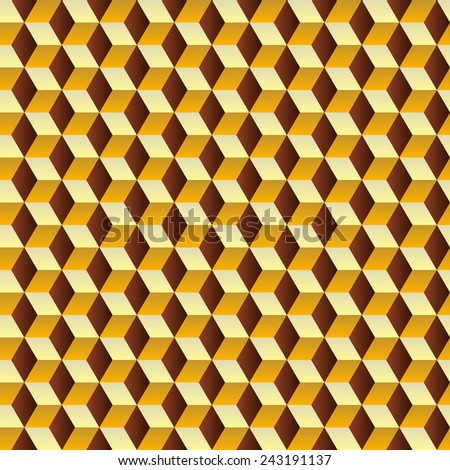 Cubes - seamless background pattern, illustration - stock vector
