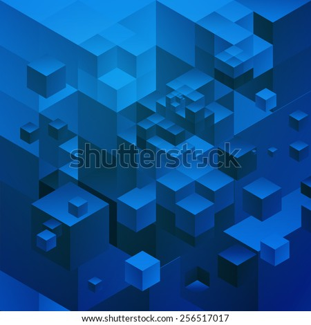 Cubic alternative space. - stock vector