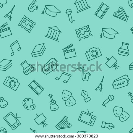 culture seamless pattern - stock vector