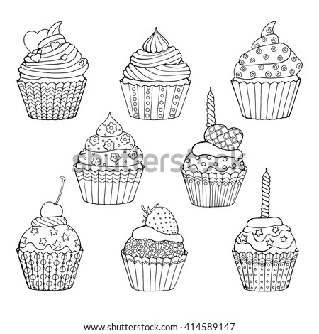 cup cake vector stock photos images pictures