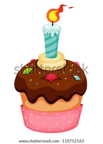 Cup cake vector - stock vector