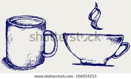 Cup drink - stock vector