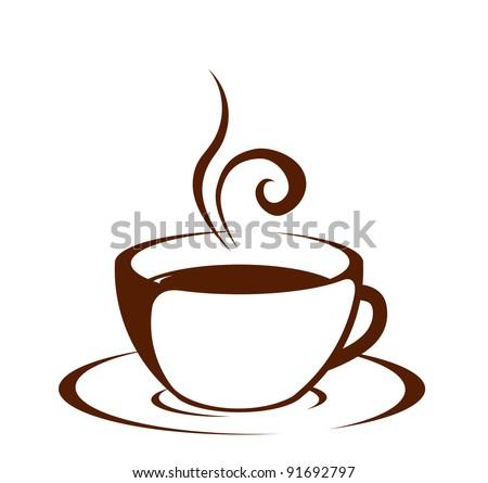 Cup (mug) of hot drink (coffee, tea etc) - stock vector