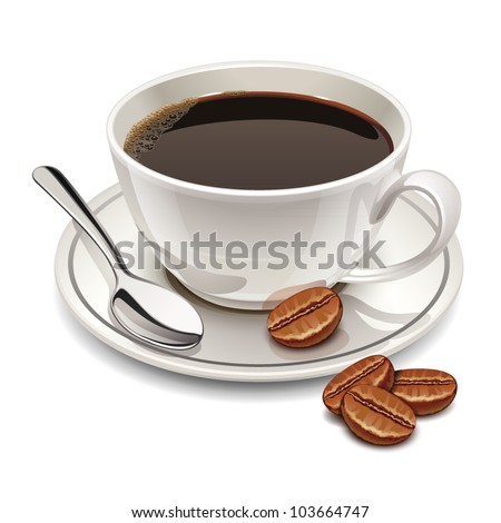 cup of coffee - stock vector