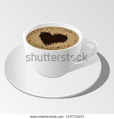 cup of coffee. - stock vector