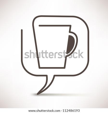 cup of coffee concept speech bubbles - stock vector