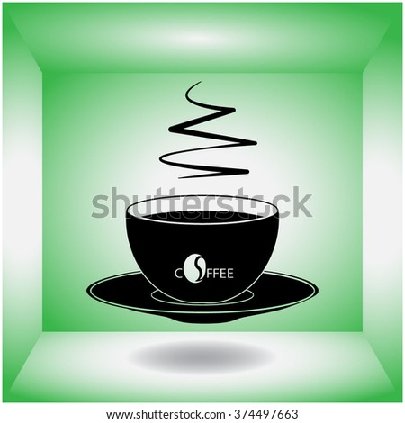 Cup of coffee icon. Cup of coffee vector. - stock vector