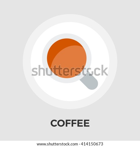 Cup of coffee icon vector. Flat icon isolated on the white background. Editable EPS file. Vector illustration. - stock vector