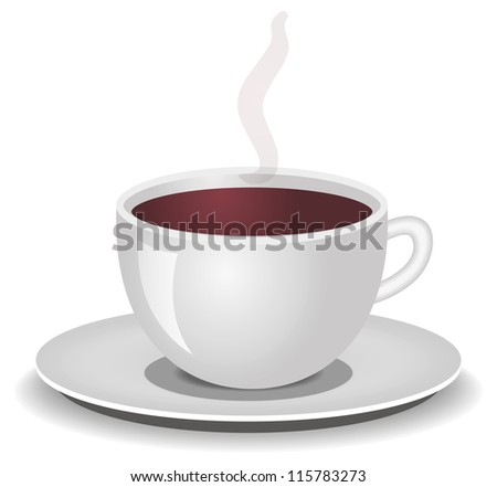 cup of coffee, tea - stock vector
