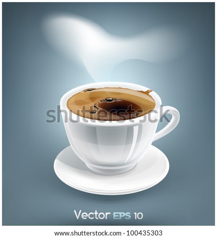 Cup of espresso EPS10 - stock vector
