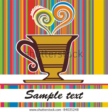 Cup of hot drink. Vector illustration - stock vector