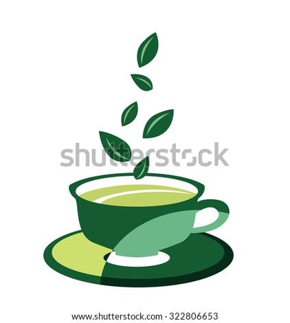 Cup of tea - stock vector