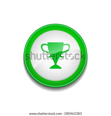 Cup Sign Circular Green Vector Web Button Icon - stock vector