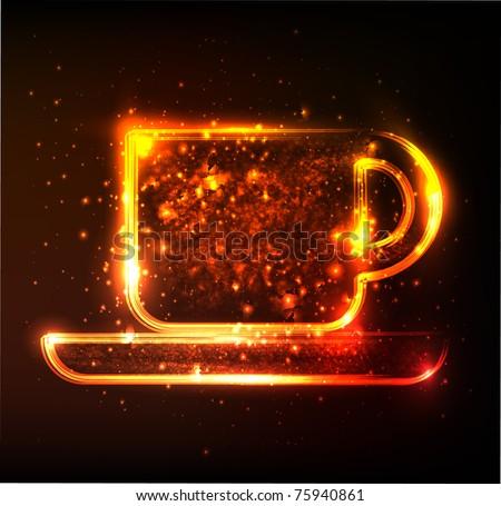 cup symbol - stock vector