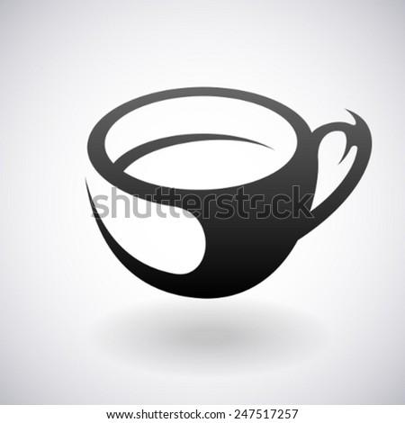 Cup vector icon - stock vector
