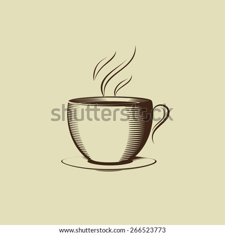 cup with saucer - stock vector