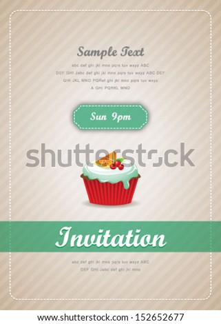 Cupcake background 08  - stock vector