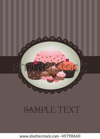 cupcake design - stock vector