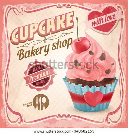cupcake love - stock vector