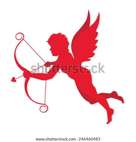 cupid symbol valentine and love, vector illustration - stock vector