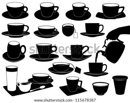 Cups set - stock vector