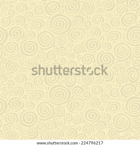 curl hand-drawn vector pattern - stock vector