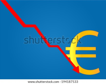 Currency Crisis Euro - stock vector
