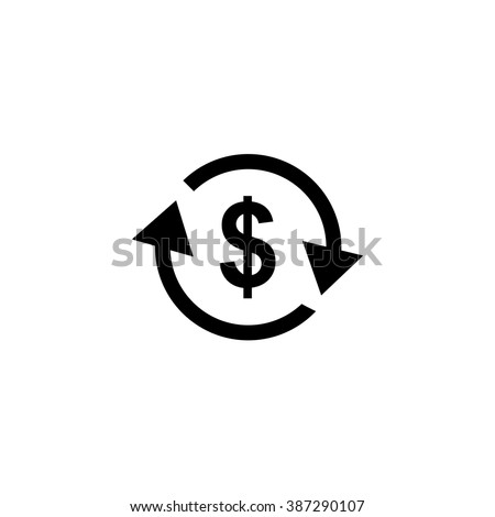 Currency exchange icon.  - stock vector