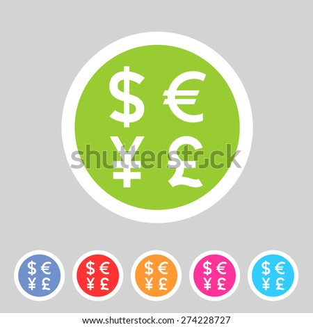 Currency exchange sign icon converter symbol money label - stock vector