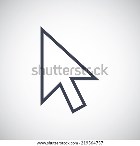 Cursor Pointer symbol icon. Vector pictogram. Simple flat metro design style. esp10 - stock vector