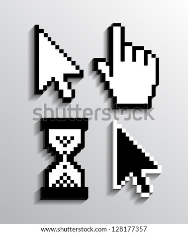Cursor set eps10 - stock vector