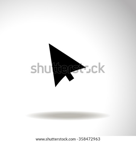 Cursors icon. Vector illustration. - stock vector