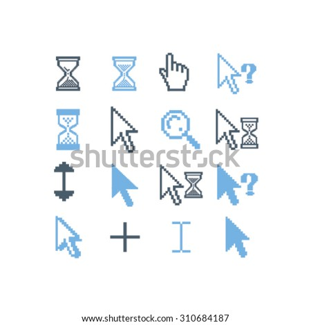 cursors icons - stock vector