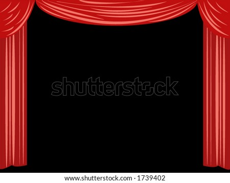 Curtain background. - stock vector