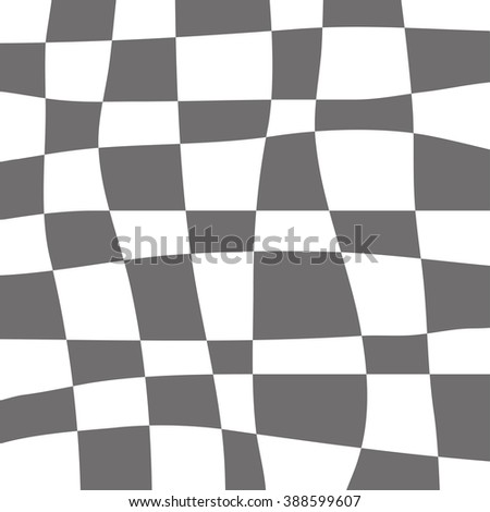 Curve linear square in the grid pattern, comic vector background. - stock vector