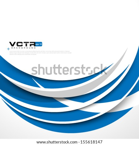 Curve Lines Modern Design Background - stock vector