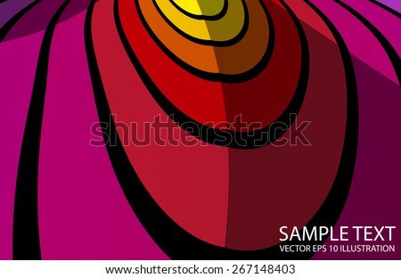 Curved abstract vivid background abstract illustration - Vector abstract color striped  background  template - stock vector