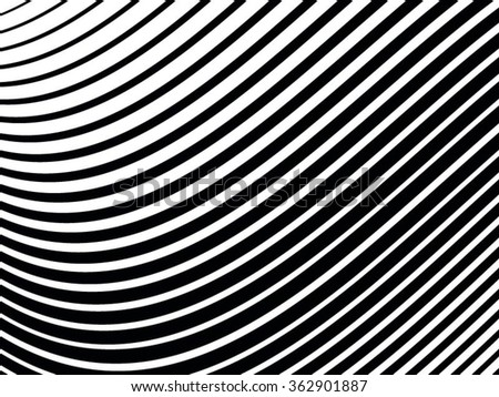 Curved Stripes . Abstract Stripes . Vector Stripes . Lines Stripes .Background Stripes . - stock vector