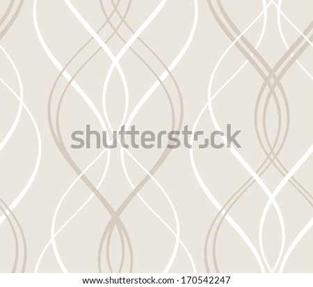 Curved stripes forming a decorative abstract background pattern that will tile seamlessly.  - stock vector