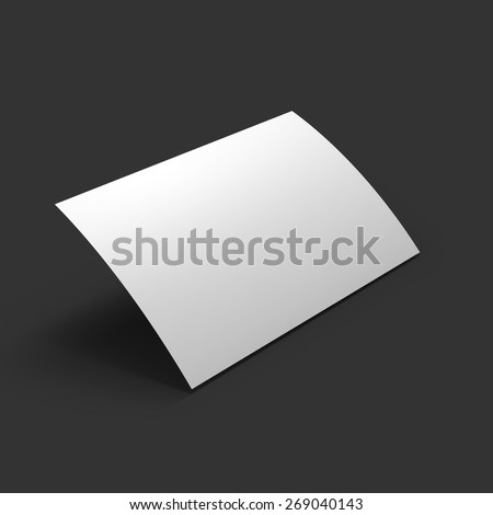 Curved white page. Business mockup template. Presentation of your branding and identity design. Vector Illustration EPS10. - stock vector