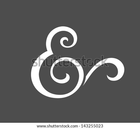 Custom ampersand for wedding invitation. Vector illustration - stock vector