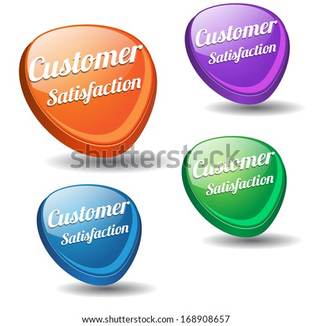 Customer Satisfaction Colorful Vector Icon  - stock vector