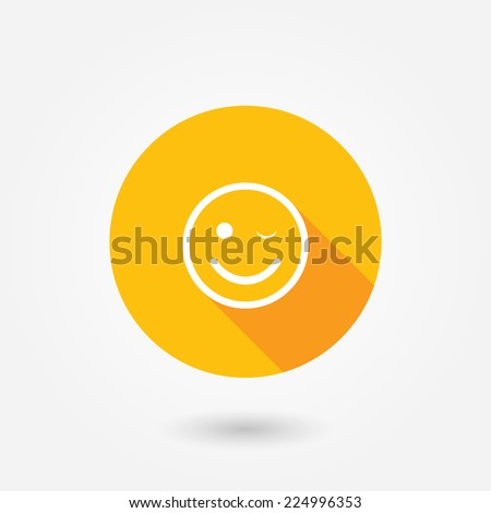 Customer satisfaction or feedback icon.  Flat style icon with long shadow - stock vector