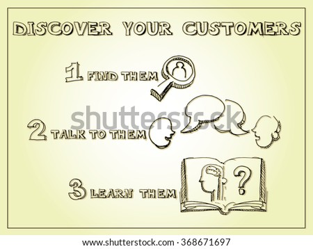 Customer searching business concept. - stock vector
