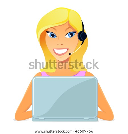 Customer service - stock vector