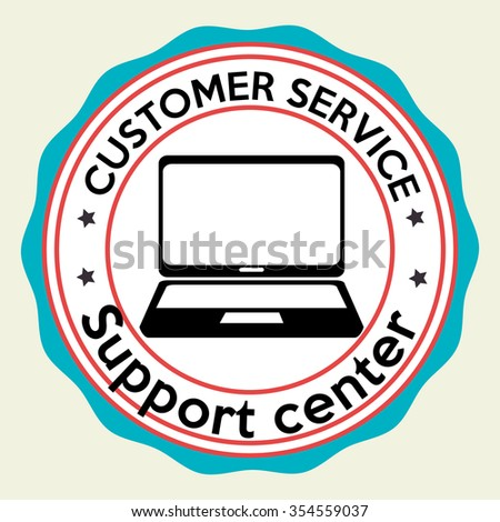 Customer service and technical support graphic design, vector illustration eps10 - stock vector