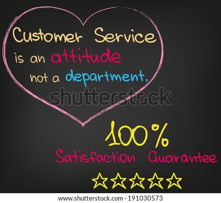 Customer Service Approach - stock vector