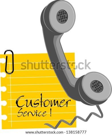 customer service, icon vector - stock vector
